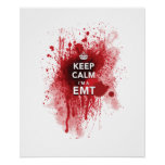 Cool 'Keep Calm I'm an EMT' Funny Poster