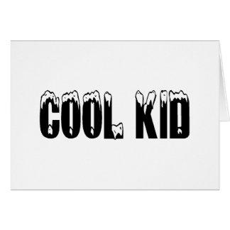 Cool Kid Black Greeting Cards