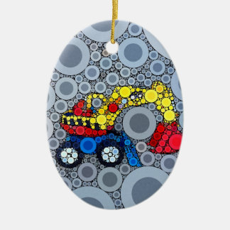 Cool Kids Construction Truck Excavator Digger Christmas Ornament