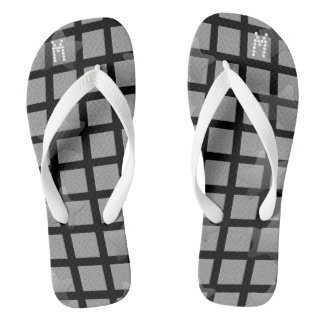 Cool Kids Grey Black Flip Flops