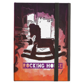 Cool Kids Wooden Rocking Horse Toy Pop Art iPad Air Covers