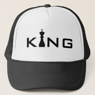 Cool King Typography Chess Player Cap