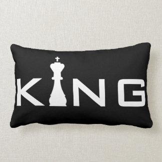 Cool King Typography Chess Player Lumbar Cushion