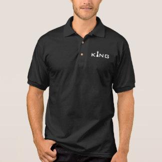 Cool King Typography Chess Player Polo Shirt