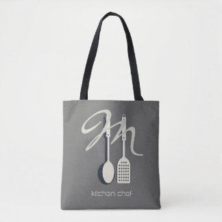 Cool Kitchen Chef Cook Foody Monogrammed  Tote