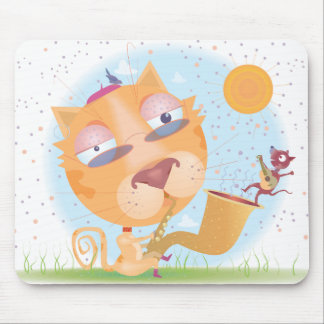 Cool kitty mouse pad
