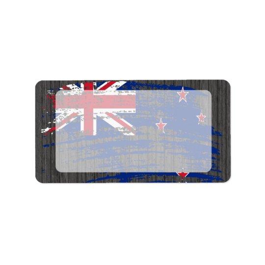 Cool Kiwi flag design Label