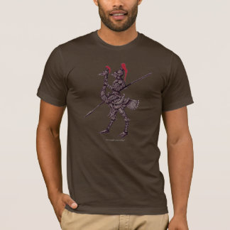 Cool knight on ostrich abstract graphic t-shirt