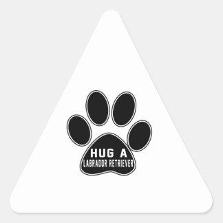 Cool Labrador Retriever Designs Triangle Sticker