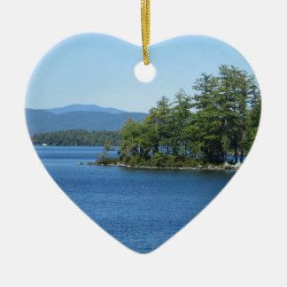 Cool Lake Island Shot Christmas Tree Ornament