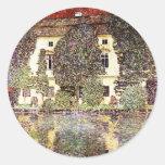 Cool landscape - Gustav Klimt Round Sticker