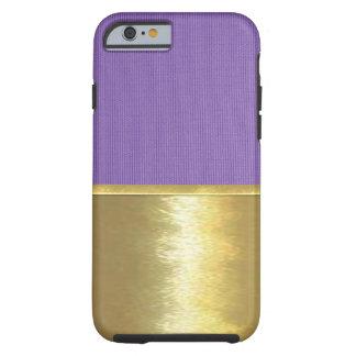 Cool Lavender Texture Gold Design Case