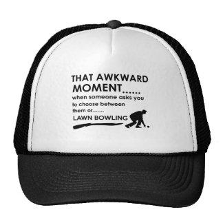 Cool lawn bowl  designs cap