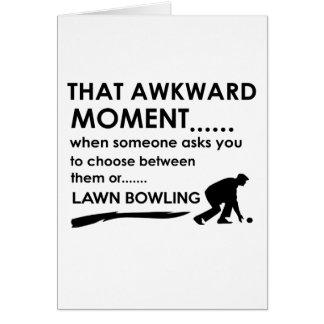 Cool lawn bowl  designs greeting card