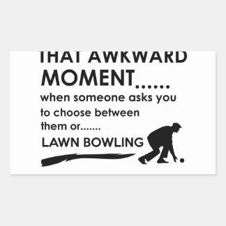 Cool lawn bowl  designs rectangular sticker