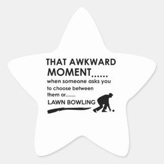 Cool lawn bowl designs star sticker