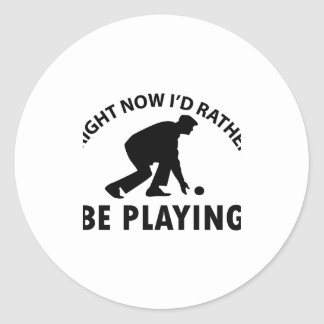 Cool lawn bowl designs round stickers
