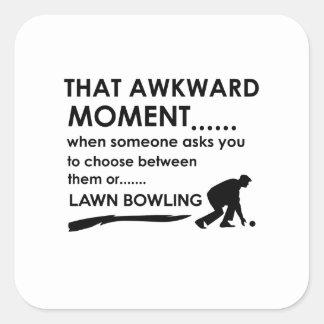 Cool lawn bowl  designs square stickers