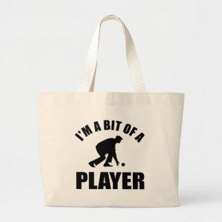 Cool Lawn bowling design Large Tote Bag
