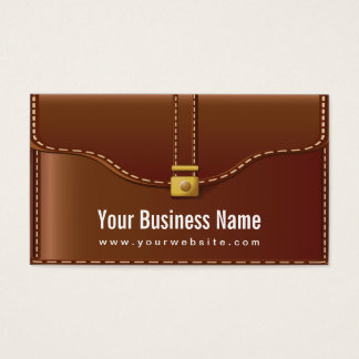 Cool Leather Bag Style Business Card