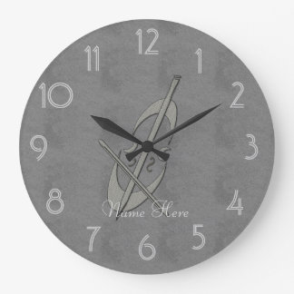 Cool Leather Look Cello O'clock Add Name Clock
