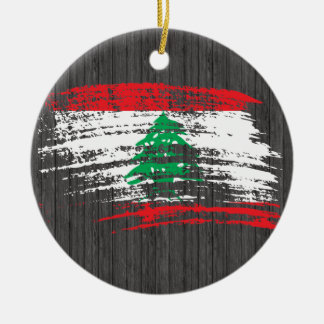 Cool Lebanese flag design Christmas Ornament