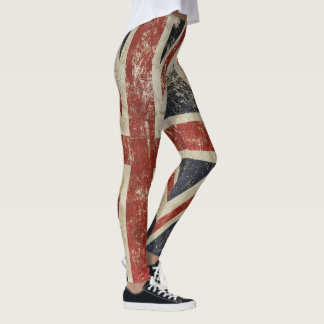 Cool leggings with vintage flag of Britain