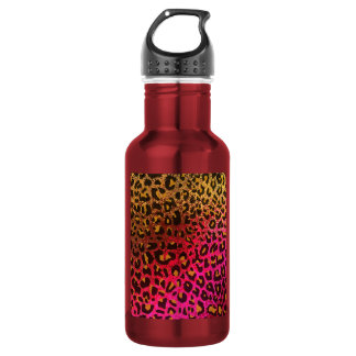 Cool Leopard print skin bright rough background 532 Ml Water Bottle