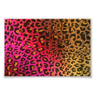 Cool Leopard print skin bright rough background Art Photo