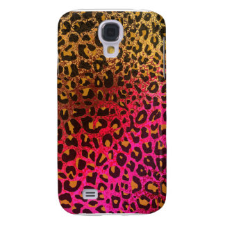 Cool Leopard print skin bright rough background Galaxy S4 Cover