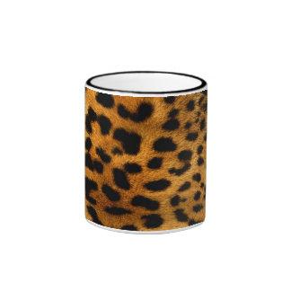 cool leopard skin effect ringer mug