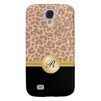 Cool Leopard Skin Monogram Galaxy S4 Case