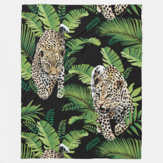 Cool Leopards Pattern fleece blankets