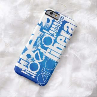 Cool Liberal; Royal Blue Stripes Barely There iPhone 6 Case