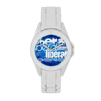 Cool Liberal; Royal Blue Stripes Watches
