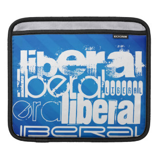 Cool Liberal; Royal Blue Stripes iPad Sleeves