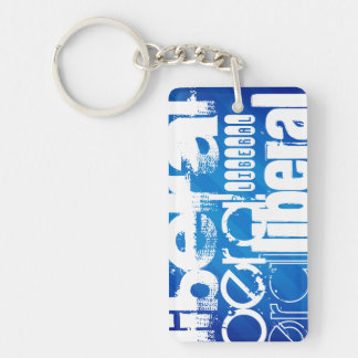 Cool Liberal; Royal Blue Stripes Acrylic Keychains