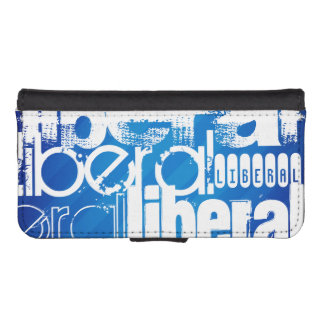 Cool Liberal; Royal Blue Stripes iPhone 5 Wallet