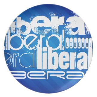 Cool Liberal; Royal Blue Stripes Plates