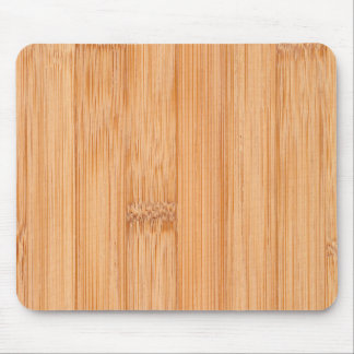 Cool light brown bamboo wood print mouse mat