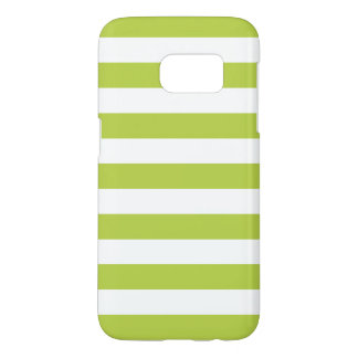 Cool Lime Green Galaxy S7 Cases - Nautical Stripe