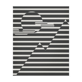 Cool line landscape canvas print