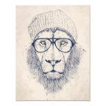 Cool lion 11 cm x 14 cm invitation card