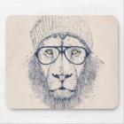 Cool lion mouse mat