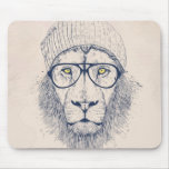 Cool lion mouse pad