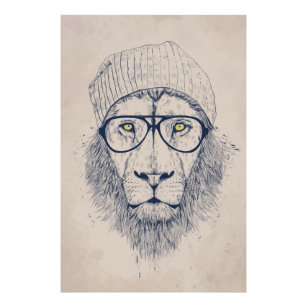 Cool Lion Art Posters Framed Artwork