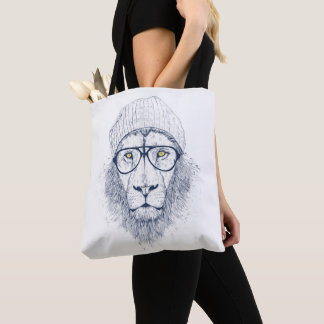 Cool lion tote bag