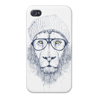 Cool lion (white) case for iPhone 4