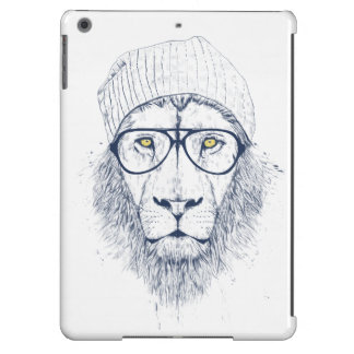 Cool lion (white) iPad air cases
