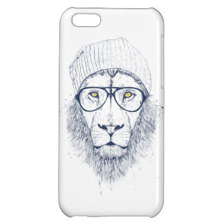 Cool lion (white) iPhone 5C case